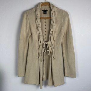 BCBGMaxAzria Beige Knit Cardigan